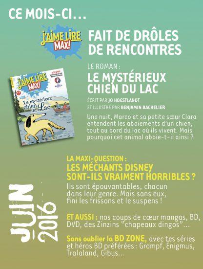 Sommaire n°210 - juin 2016
