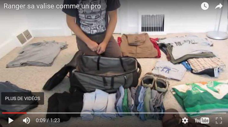 Vidéo Youtube - Ranger sa valise