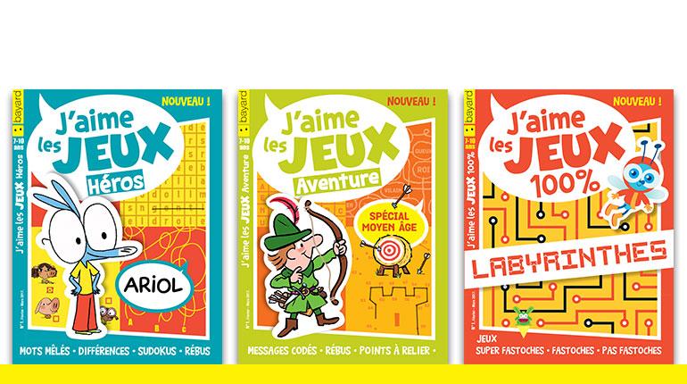 Trois nouveaux magazines de jeux pour les 7-10 ans