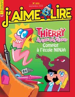 n°452 - Thierry le ver de terre, Complot à l'école Ninja