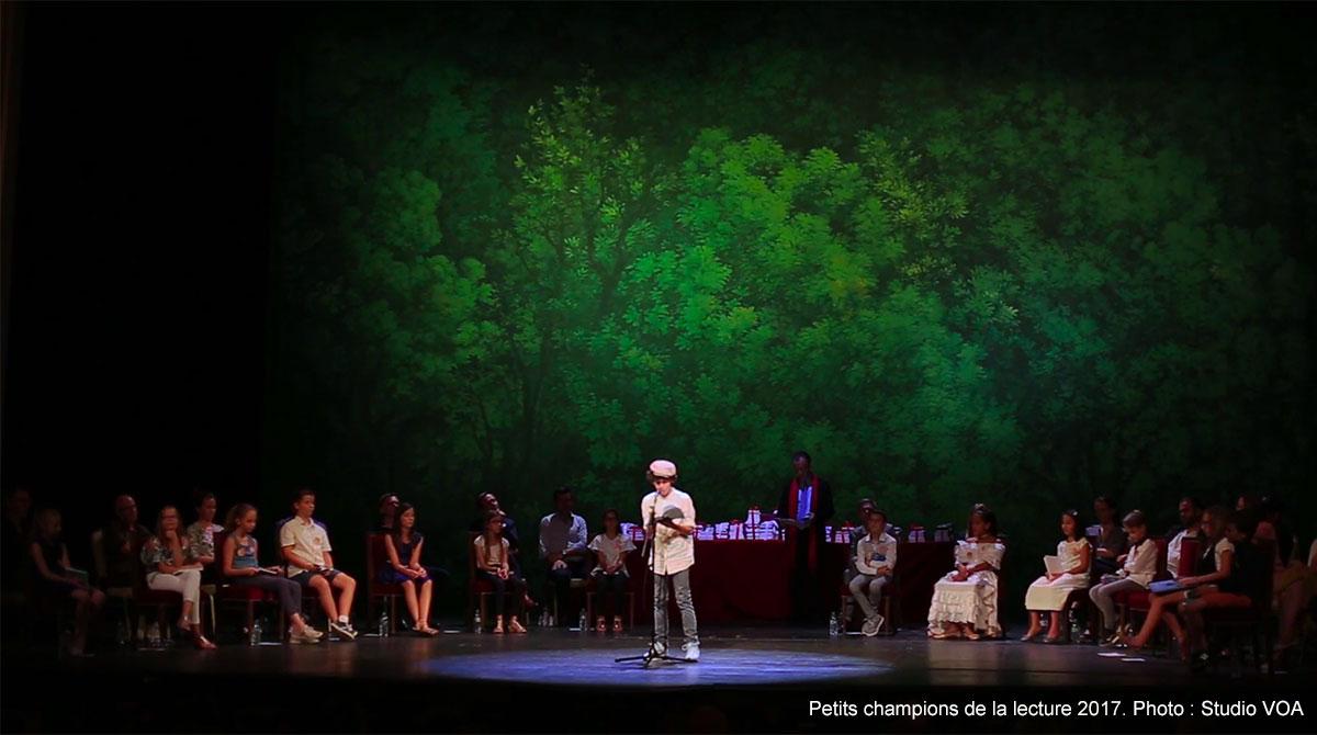 Petits champions de la lecture, finale à la Comédie française, juin 2017 - Studio VOA