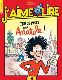 Couverture du magazine J'aime lire, n° 501, octobre 2018 - Jeu de piste pour Anatole !