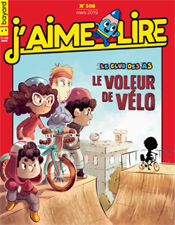Couverture du magazine J'aime lire, n° 506, mars 2019 - Le club des as - Le voleur de vélo