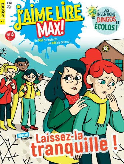 Couverture du magazine J'aime lire Max n°251, novembre 2019