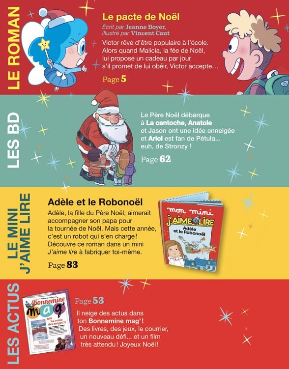 Sommaire du magazine J'aime lire, n° 515, décembre 2019 - Le Pacte de Noël