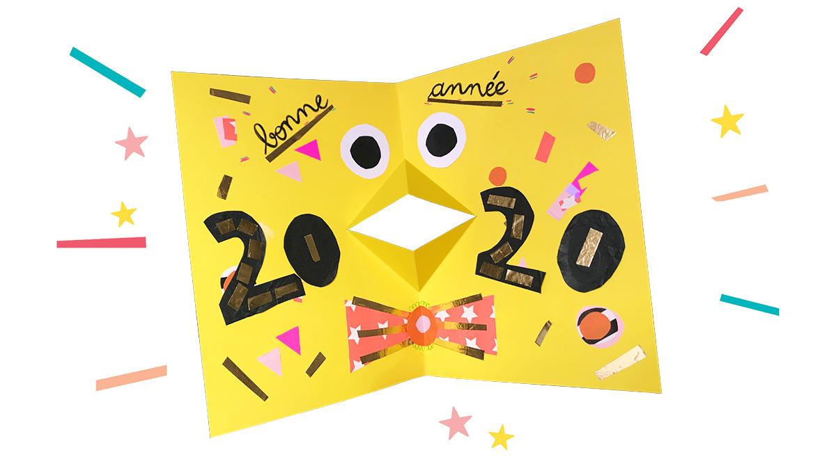 """""""Fabrique ta propre carte pop-up"""", J'aime lire Max n°253, janvier 2020. Texte, réalisationet photos : Anaëlle Daussy."""