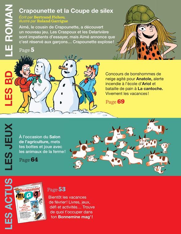 Sommaire du magazine J'aime lire, n° 517, février 2020 - Crapounette et la Coupe de silex