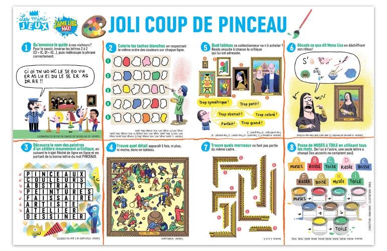 """""""Joli coup de pinceau"""", J'aime lire Max n°244. Conception : Anna Mars. Illustrations : Nikol."""