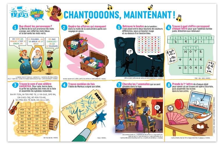 """Chantooooons, maintenant !"", J'aime lire Max n°245. Conception : Anna Mars. Illustrations : Clémence Perrault."