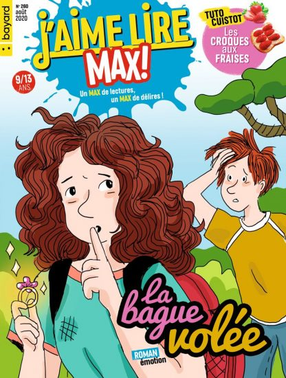 Couverture du magazine J'aime Lire Max n°260, août 2020