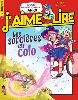 Couverture du magazine J'aime lire, n° 523, août 2020 - Les sorcières en colo