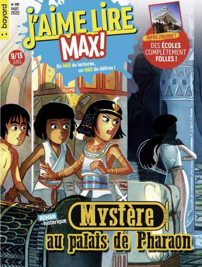 Couverture du magazine J'aime Lire Max n°261, septembre 2020