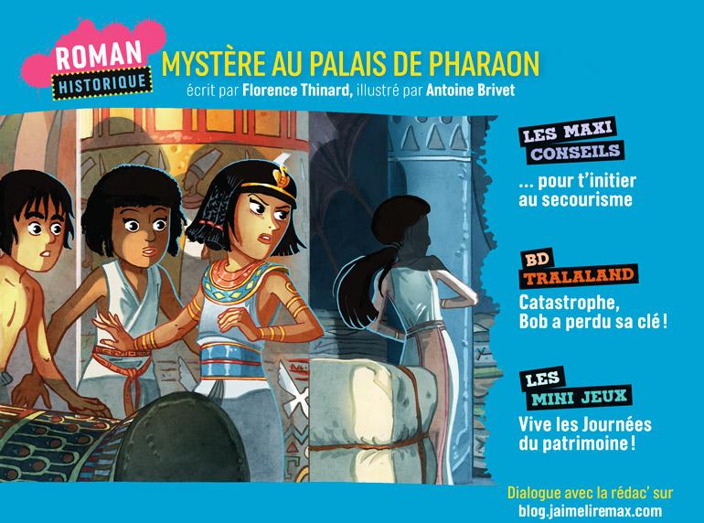 Sommaire du magazine J'aime Lire Max n°261, septembre 2020