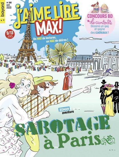 Couverture du magazine J'aime Lire Max n°262, octobre 2020