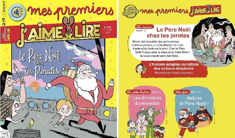 """Au sommaire du magazine """"Mes premiers J'aime lire"""", n°220, décembre 2020"""