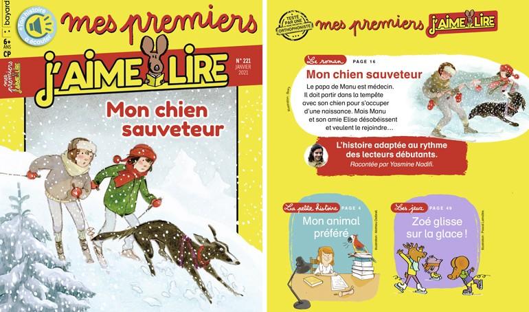 Sommaire du magazine Mes premiers J'aime lire n°221, janvier 2021