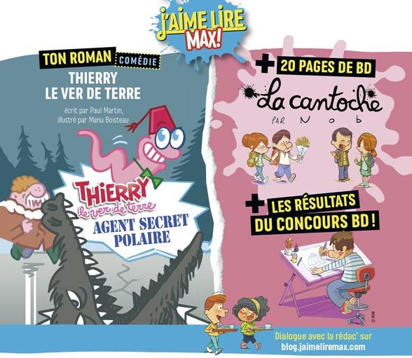 Sommaire du magazine J'aime Lire Max n°266, février 2021