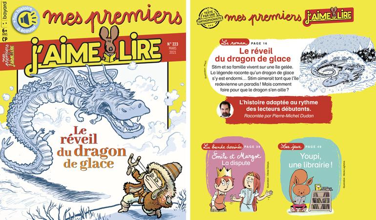 Sommaire du magazine Mes premiers J'aime lire n°223, mars 2021