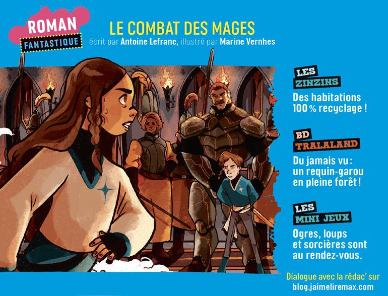 Sommaire du magazine J'aime Lire Max n°267, mars 2021
