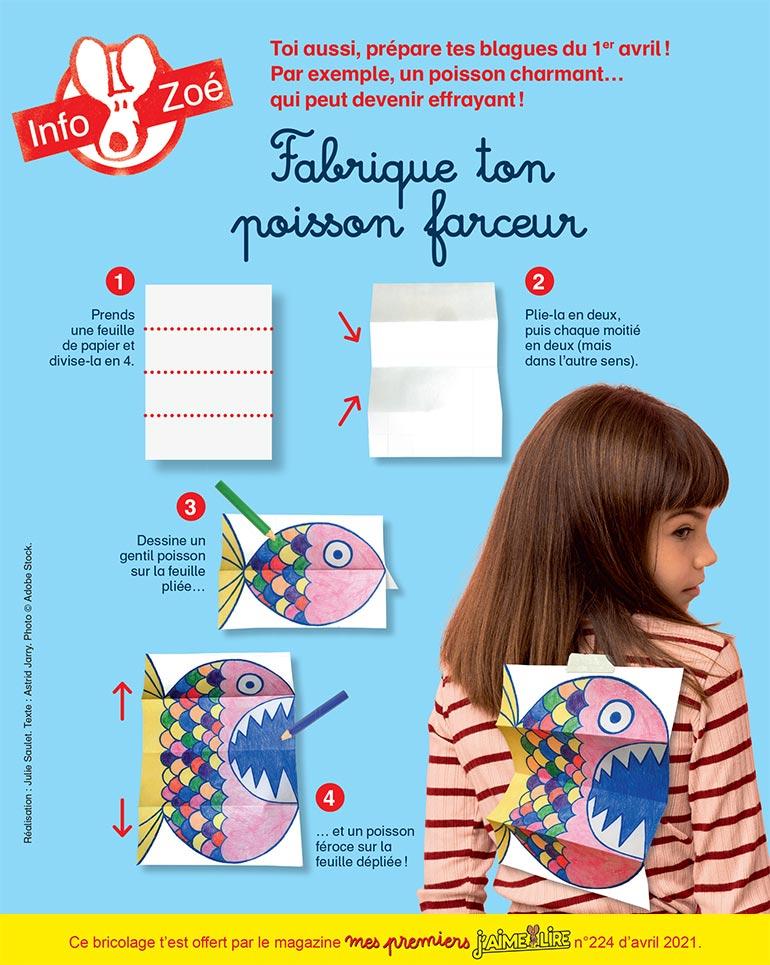 Fabrique ton poisson farceur. © Adobe Stock.