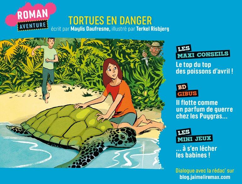 Sommaire du magazine J'aime Lire Max n°268, avril 2021