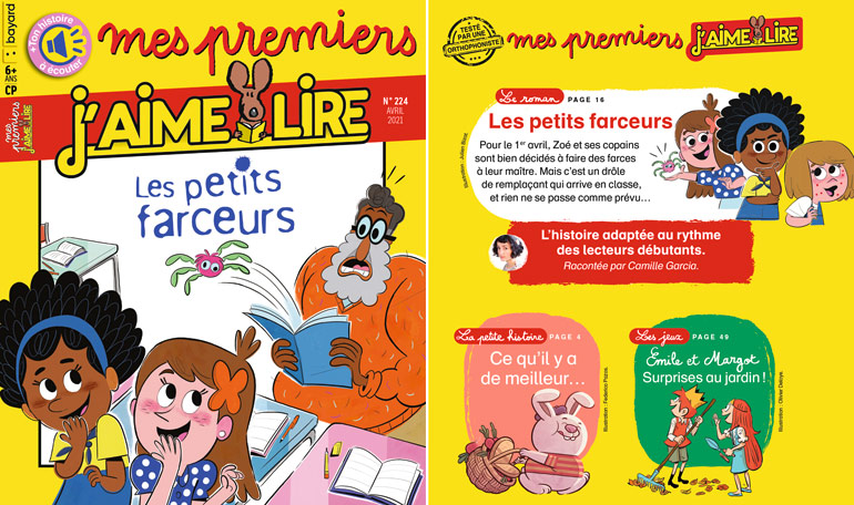 Sommaire du magazine Mes premiers J'aime lire n°224, avril 2021