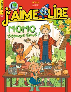 Couverture du magazine J'aime lire, n° 532, mai 2021 - Momo trouve tout !