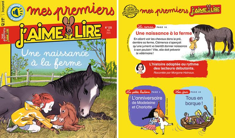 Sommaire du magazine Mes premiers J'aime lire n°225, mai 2021