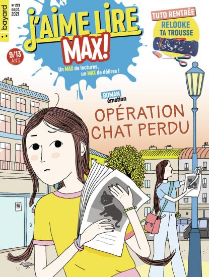 Couverture du magazine J'aime Lire Max n°273, septembre 2021 - Opération chat perdu