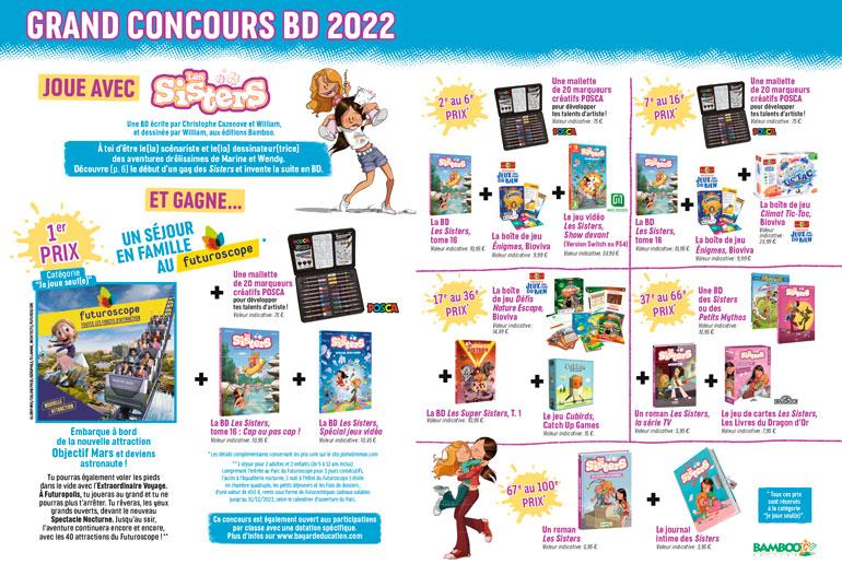 Grand concours BD 2021-2022 J'aime lire Max avec Les Sisters - 100 prix à gagner!
